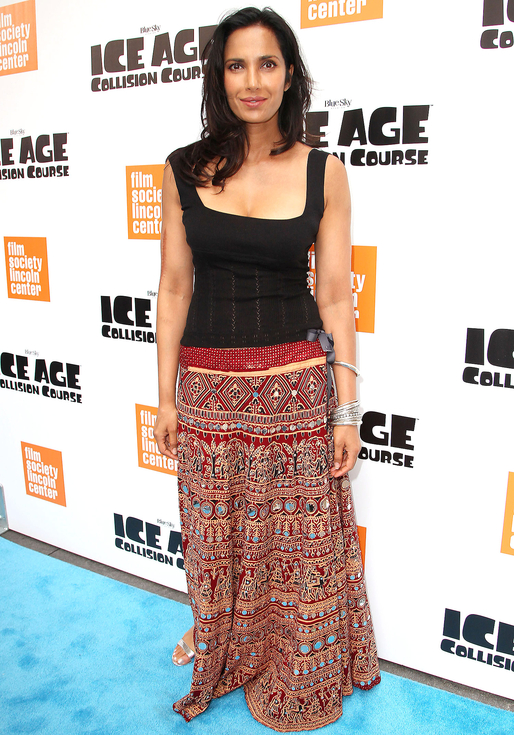 Mandatory Credit: Photo by Kristina Bumphrey/StarPix/REX/Shutterstock (5753268ai) Padma Lakshmi The Film Society of Lincoln Center & 20th Century Fox Present a Special Screening of 'ICE AGE COLLISION COURSE', New York, USA - 07 Jul 2016