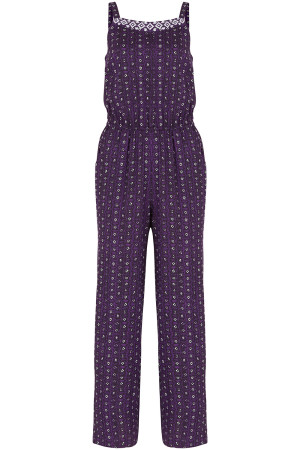 Strappy Ikat Jumpsuit Style 03744265 / Colour Purple Was £25.00 Now £8.00 Click to visit Bon Marche