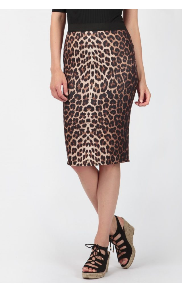 DARK ANIMAL PRINT MIDI SKIRT £5.99 Click to visit Select