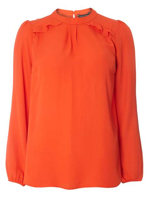 Red Frill Shoulder Blouse Price: £22.00 Click to visit Dorothy Perkins