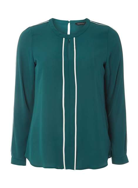 Green Keyhole Contrast Blouse Was £24.00 Now £19.20 Click to visit Dorothy Perkins