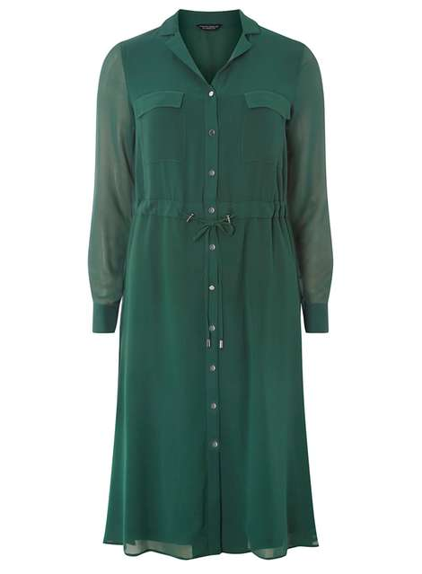 Chiffon shirt midi dress Price: £40.00 Click to visit Dorothy Perkins