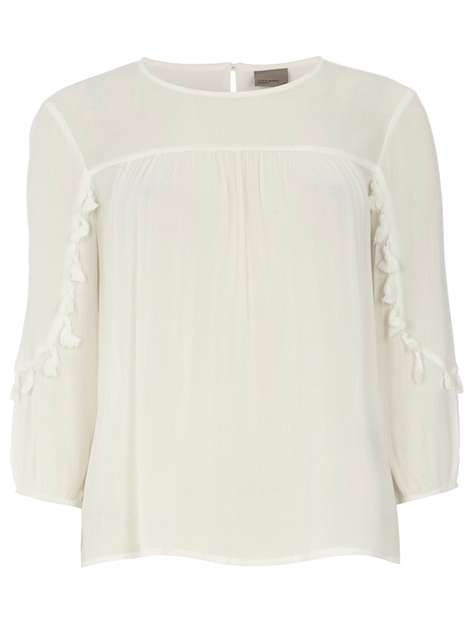 **Vero Moda White Pom Pom Top Was £24.00 Was £12.00 Now £10.20 Click to visit Dorothy Perkins