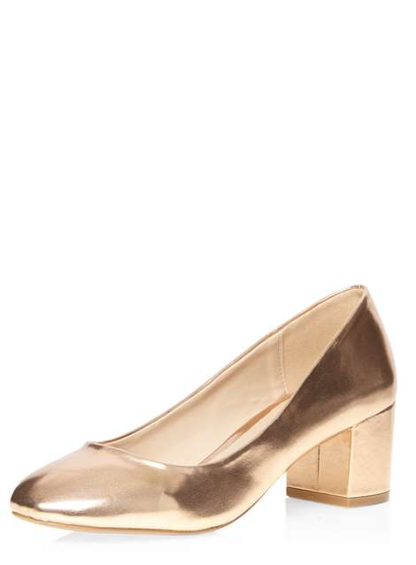Rose Gold 'Daze' Ballerina Court Shoes Was £20.00 Now £16.00 Click to visit Dorothy Perkins