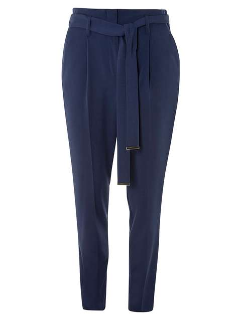 Navy Tie Waist Tapered Trousers Was £22.00 Now £17.60 Click to visit Dorothy Perkins