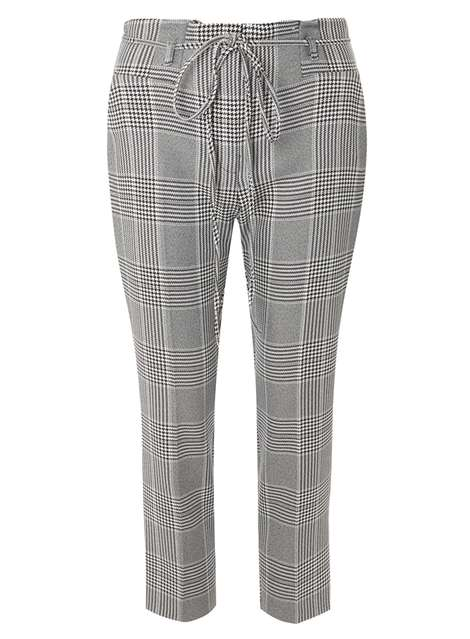 Monochrome High Waisted Tapered Trousers Price: £20.00 Click to visit Dorothy Perkins