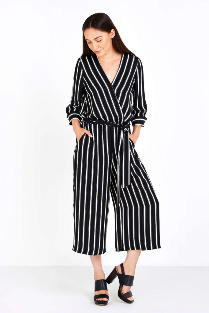 Black Pinstripe Jumpsuit Price: £55.00 Click to visit Wallis