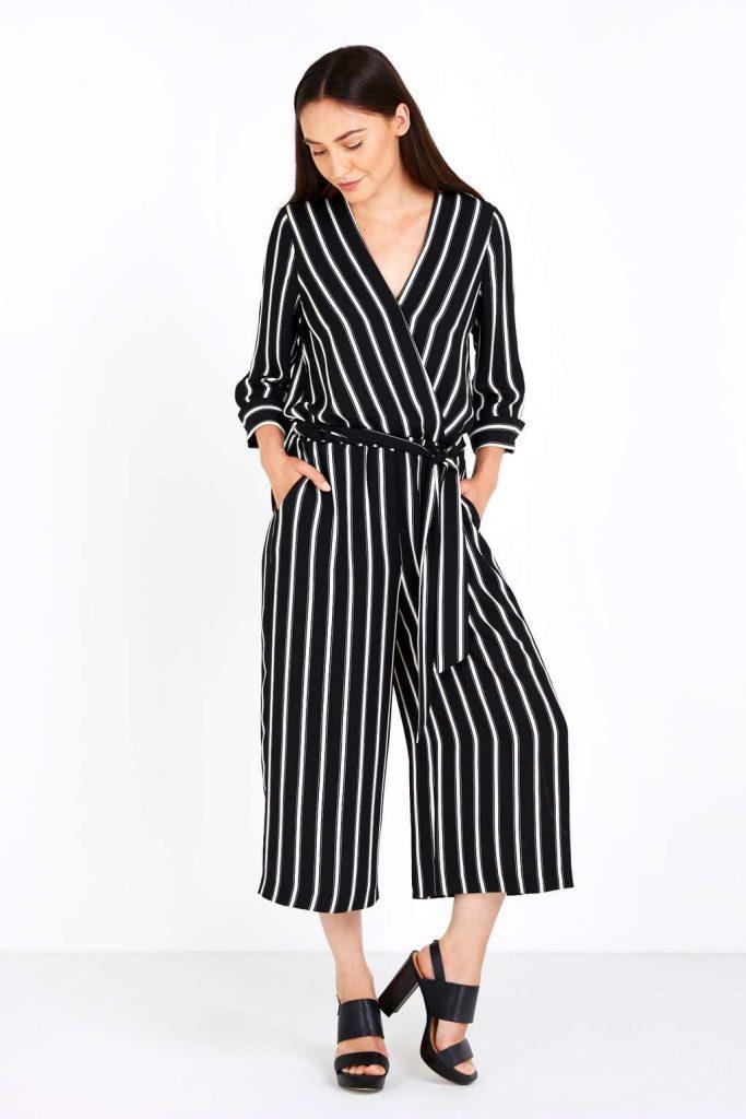 Black Pinstripe Jumpsuit Price: £55.00 Click to visit Wallis