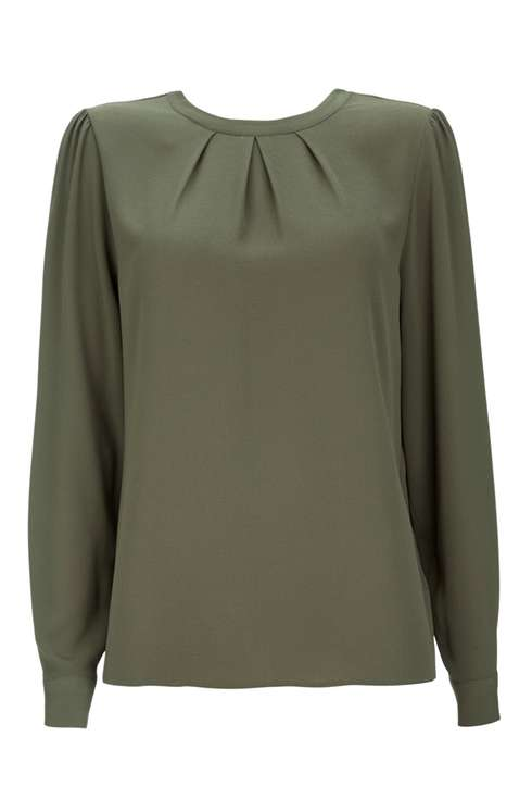 Khaki Long Sleeved Shirt Price: £30.00 Click to visit Wallis