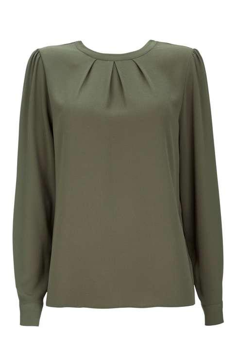 Khaki Long Sleeved Shirt Price: £30.00 Click to visit Wallis