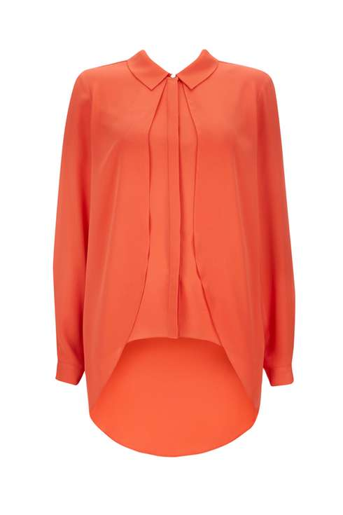 Orange Split Front Shirt Was £35.00 Now £20.00Click to visit Wallis