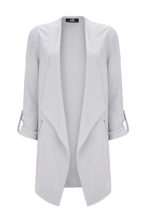 Grey Zip Midi Blazer Price: £35.00 Click to visit Wallis