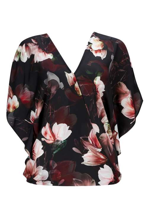 Berry Floral Woven Wrap Top Price: £33.00 Click to visit Wallis