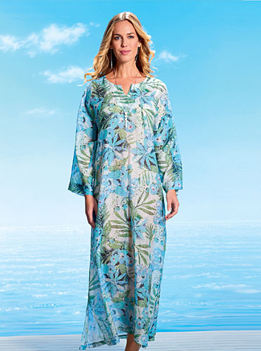 Pure Silk and Cotton Kaftan £149