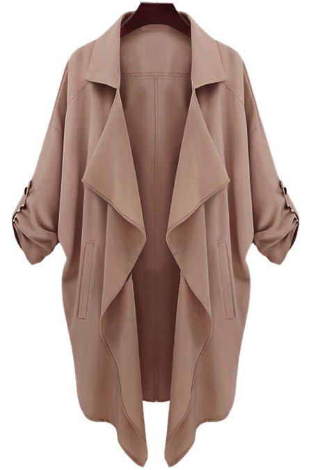 Long Sleeve Solid Color Trench Coat (SALE) £11.89 Click to visit Zaful