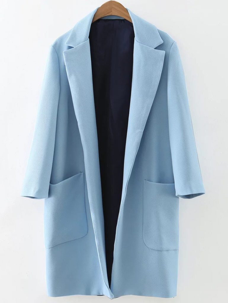 Pockets Lapel Collar Long Coat £31.73 Click to visit Zaful