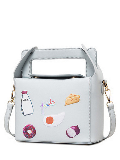 Food Pattern Magnetic Color Splicing Crossbody Bag £15.07 Click to visit Zaful