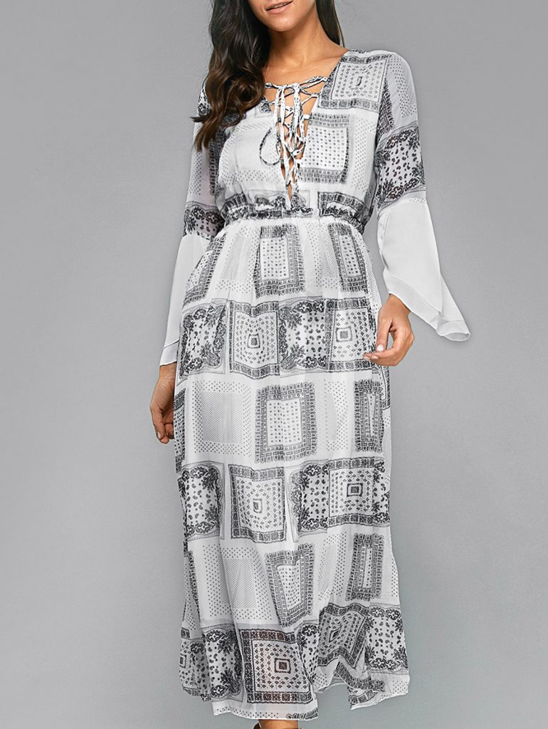 Ethereal Printed Maxi Dress £26.97 Click to visit Zaful