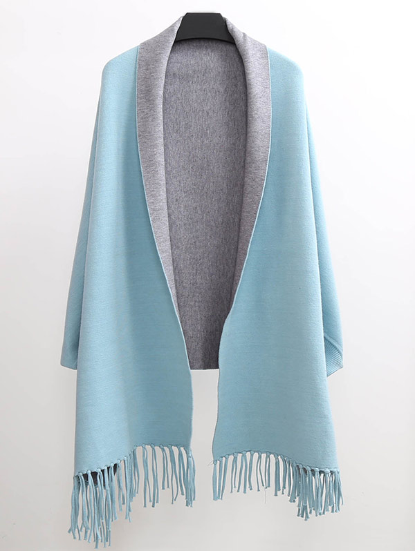 Tassel Lapel Sleeved Cape Pashmina £19.03 Click to visit Zaful