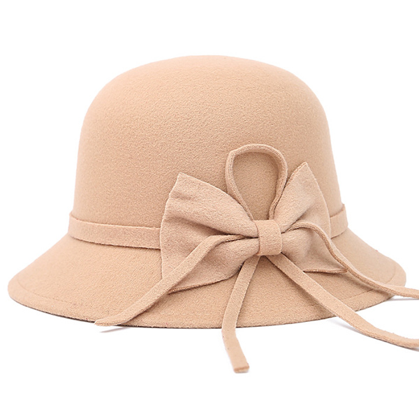 Winter Bowknot Embellished Felt Fedora Hat £3.55 Click to visit Zaful