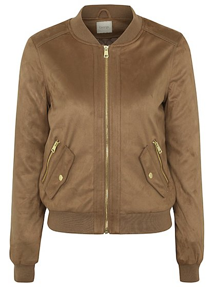 Faux Suede Bomber Jacket £28 Click to visit Asda George