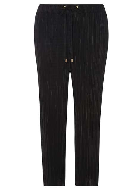 Black Plise Cropped Trousers Was £24.00 Was £15.00 Now £13.50 Click to visit Dorothy Perkins