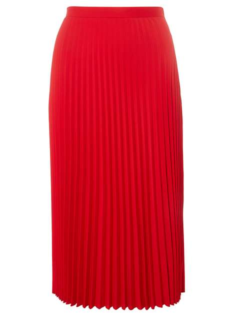 Red Satin Pleated Skirt Was £35.00 Now £20.00Click to visit Dorothy Perkins