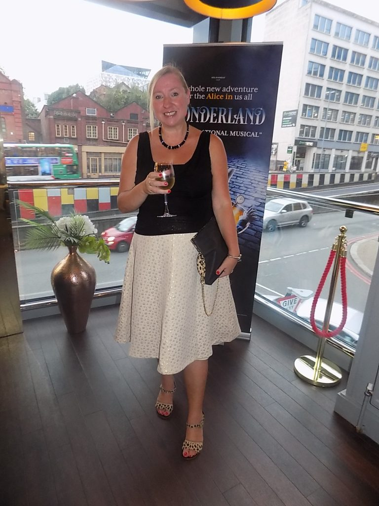 Wearing the Charlaine for a Theatre Press Night