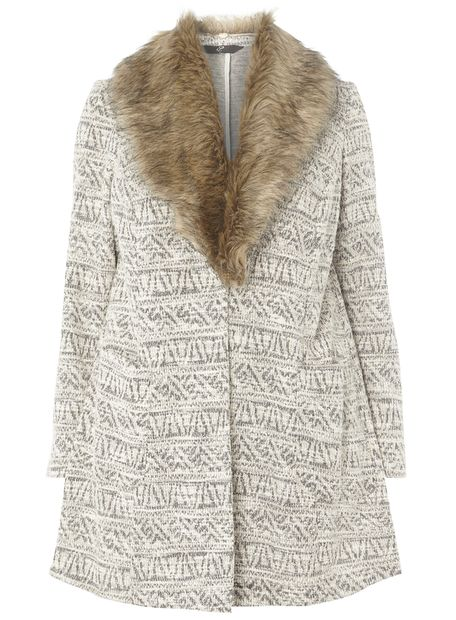 Neutral Fur Collar Jacket £55.00 Click to visit Evans