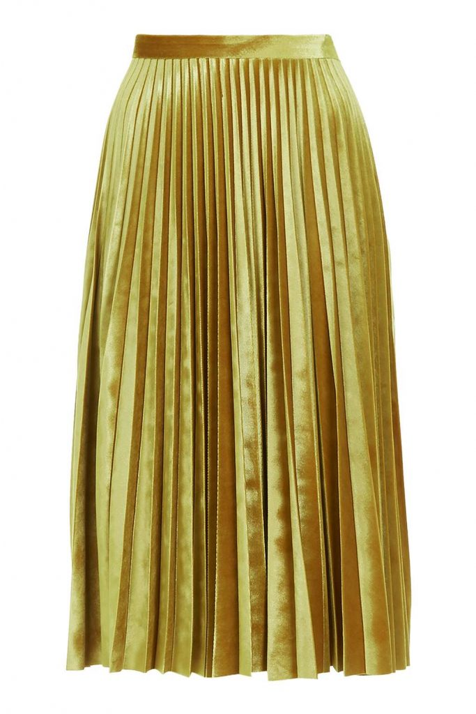 Velvet Pleat Midi £55.00 Click to visit Topshop