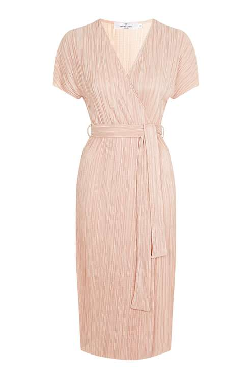 **Wrap Front Midi Pleat Dress by Oh My Love £45.00 Click to visit Topshop