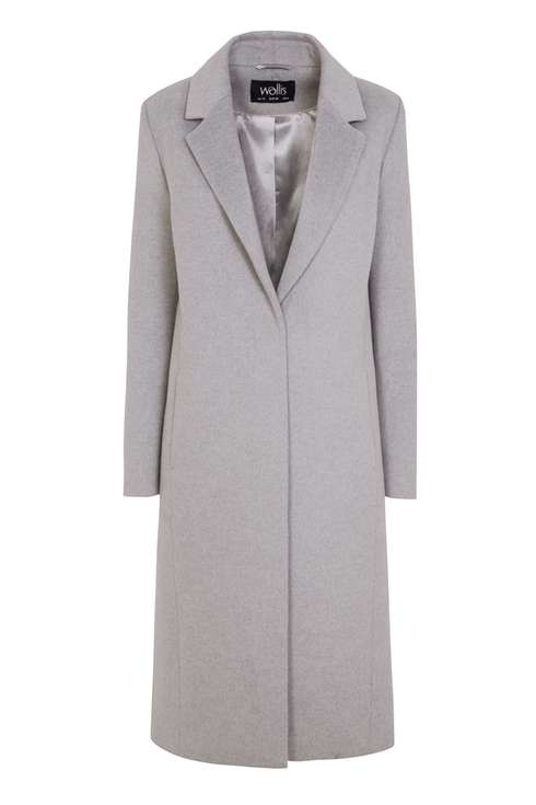 Grey Longline Coat Was £85.00 Now £68.00Click to visit Wallis