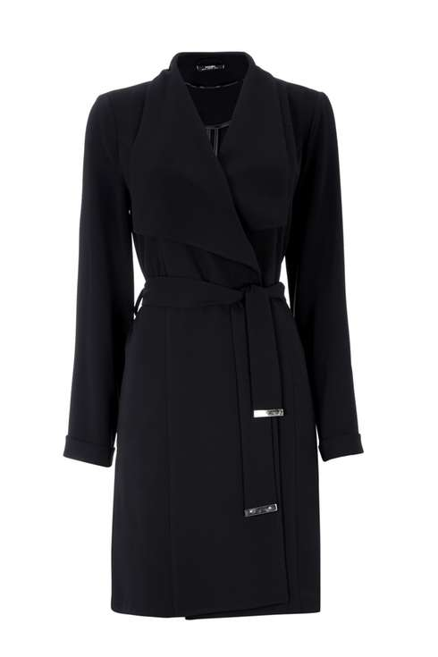 Black Drape Duster Coat Was £50.00 Now £40.00Click to visit Wallis