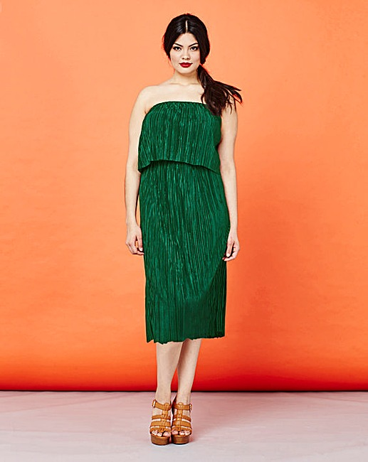 Simply Be Plisse Ruffle Midi Dress now £22.50 Click to visit Simply Be