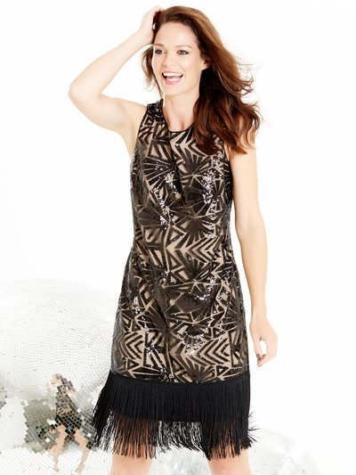 Sequin embellished flapper dress £69.00 Click to visit M&Co