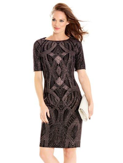 Deco glitter shift dress Details http://www.mandco.com/deco-glitter-shift-dress-black/1014870.html Product Number: 1014870 Colour: BLACK Online exclusive £59.00 Click to visit M&Co