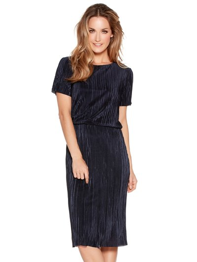 Plisse pleat layered midi dress Details Online exclusive £45.00 Click to visit M&Co