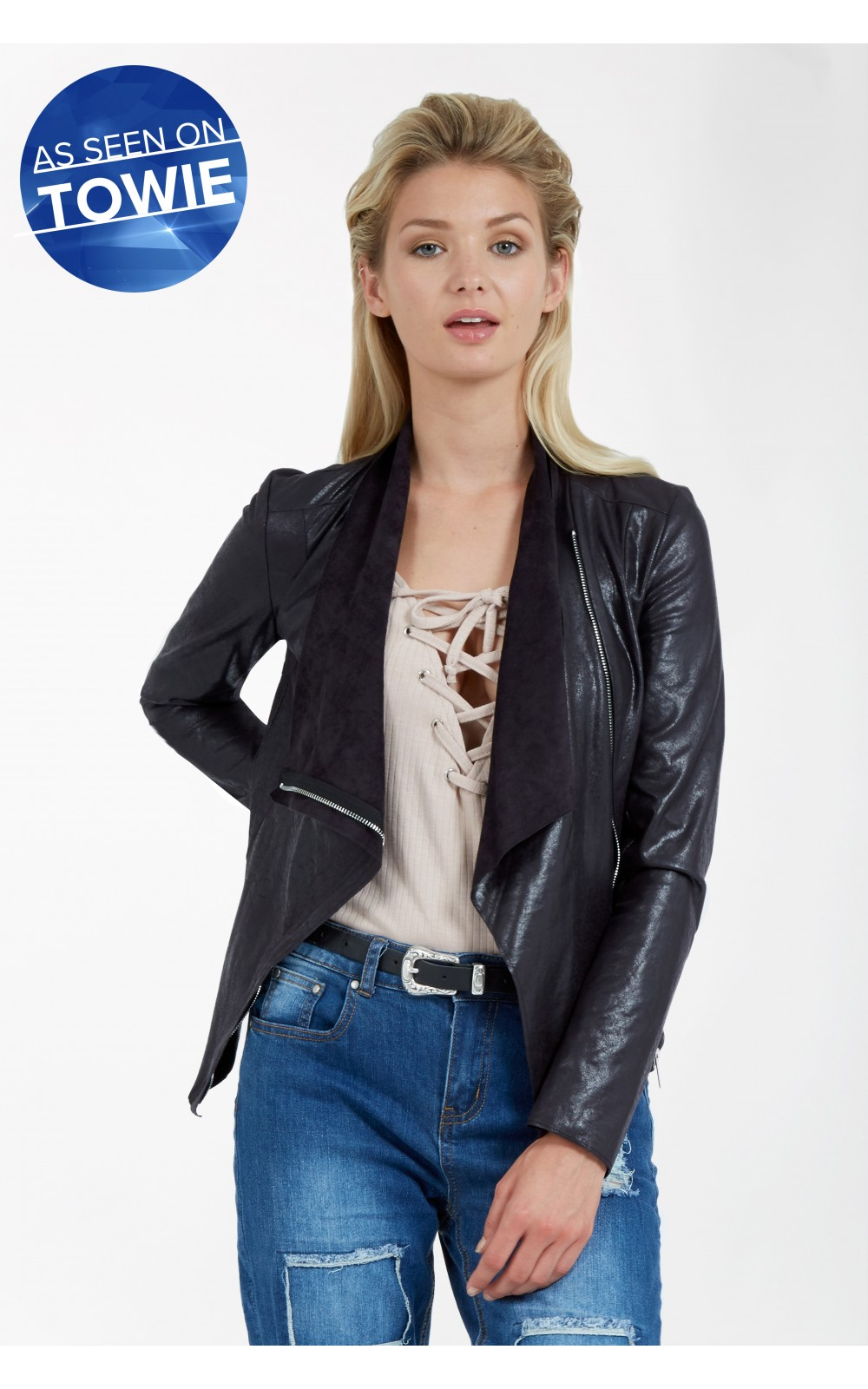 SUEDETTE BIKER JACKET £24.99 Click to visit Select