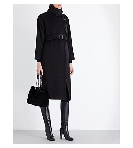 MAX MARA Funnel-neck wool and cashmere-blend coat £1,270.00 Click to visit Selfridges