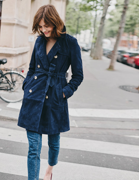 Suede Trench Coat £299 Click to visit Boden