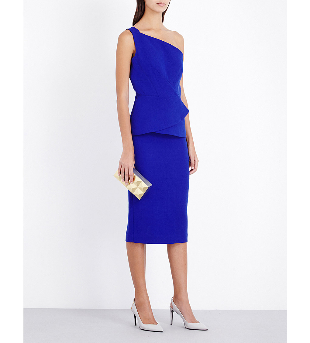 ROLAND MOURET Anerley wool-crepe dress £1,395.00 Click to visit Selfridges