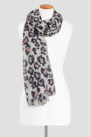 Neutral Waffle Sequin Animal Scarf £12.50 Click to visit Next