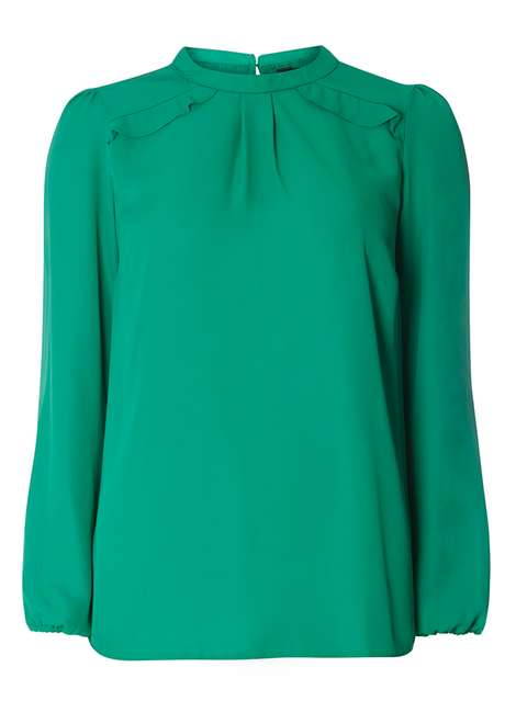 Green Frill Long Sleeve Top Price: £22.00 Click to visit Dorothy Perkins