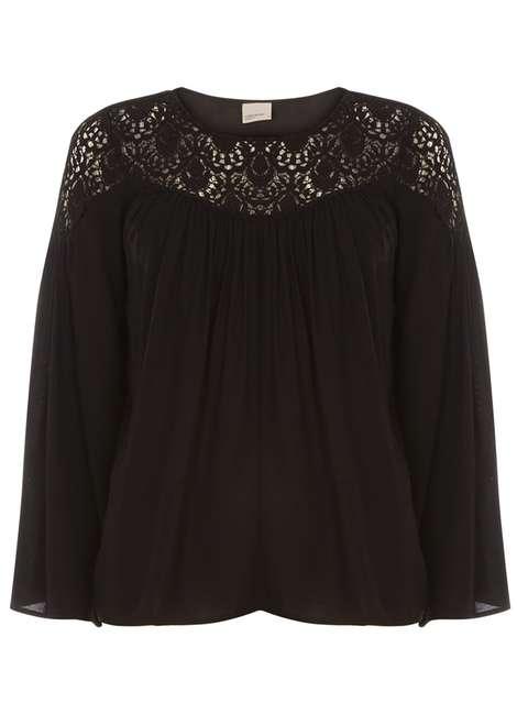 *Vero Moda Black Crochet Insert Top Was £28.00 Now £10.20 Click to visit Dorothy Perkins