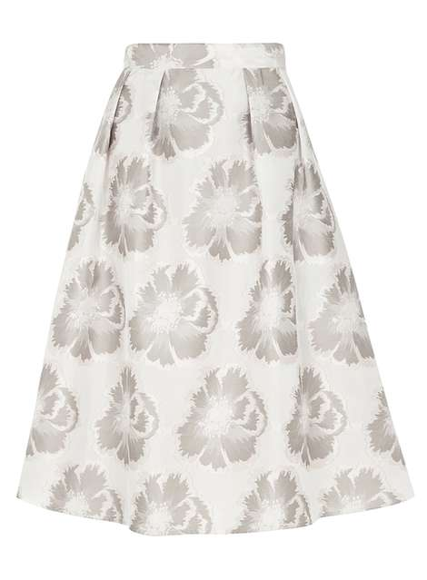 **Luxe Silver Floral Prom Skirt Was £38.00 Now £25.00Click to visit Dorothy Perkins