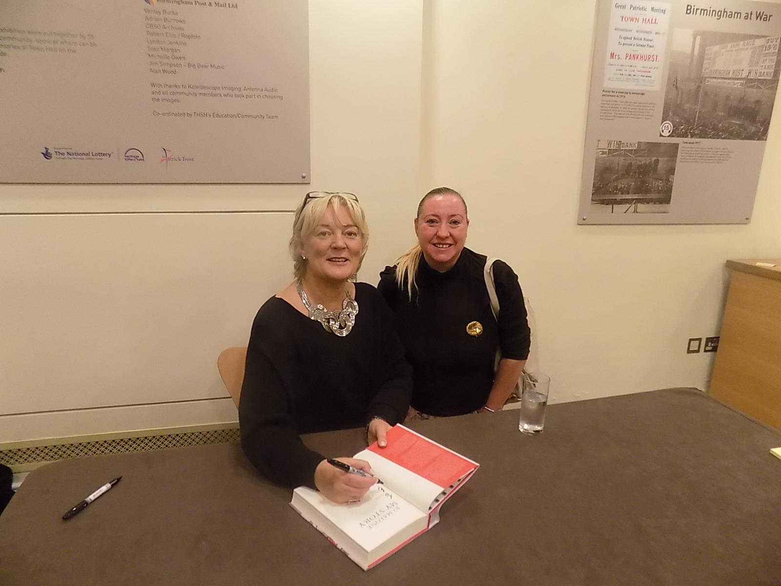 Meeting one of my heroines.