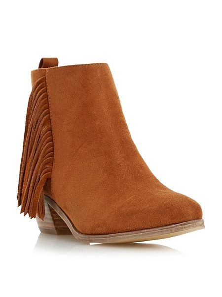 Head Over Heels Petrela pointed toe fringe ankle boots £22 Click to visit House of Fraser