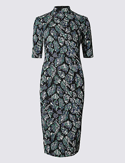 LIMITED EDITION New Cotton Rich Turtle Neck Bodycon Dress £29.50 Click to visit M&S