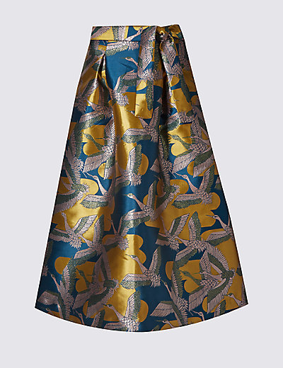 LIMITED EDITION New Bird Jacquard Print A-Line Skirt £59 Click to visit M&S