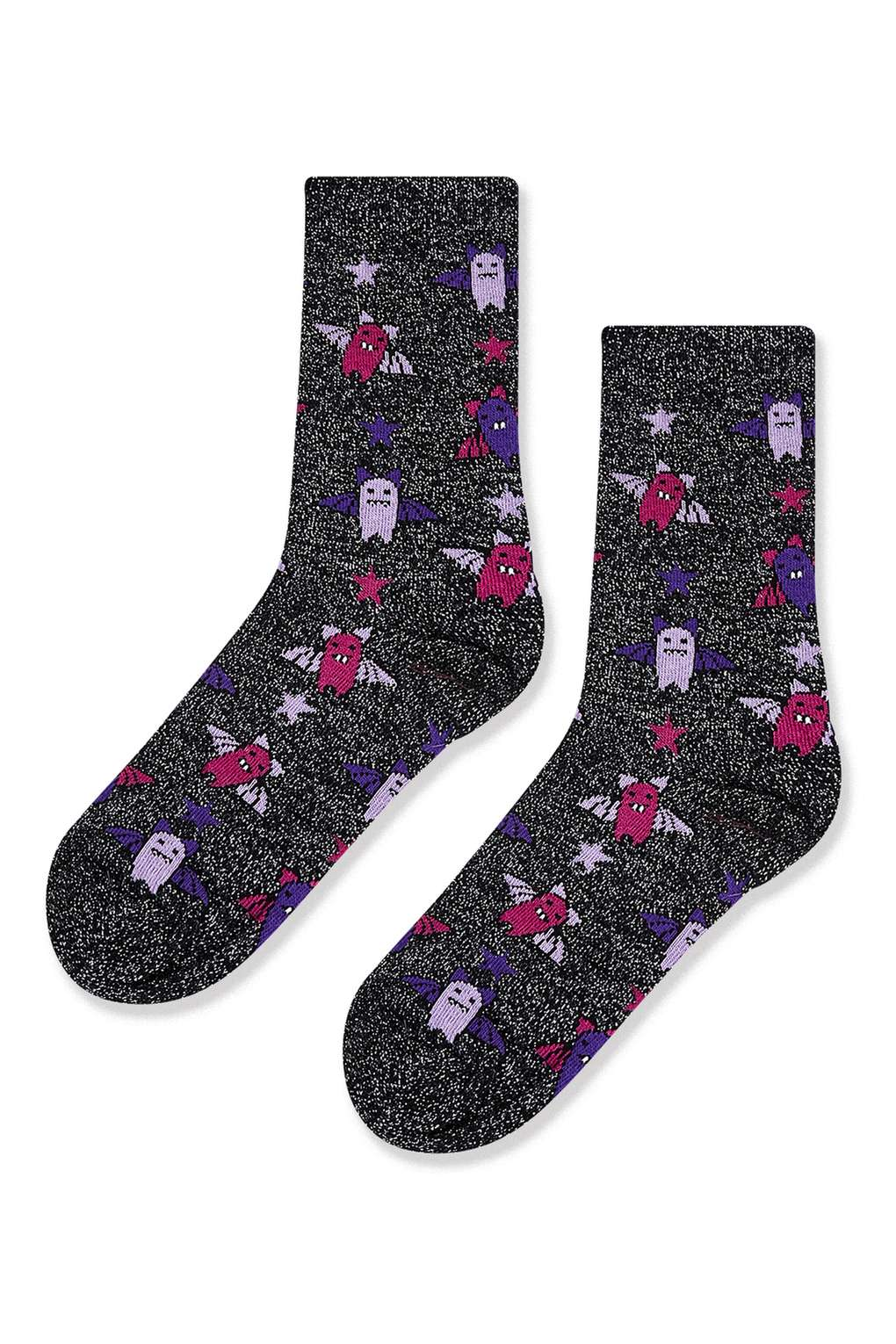 Glitter Bat Ankle Socks £3.50 Click to visit Topshop